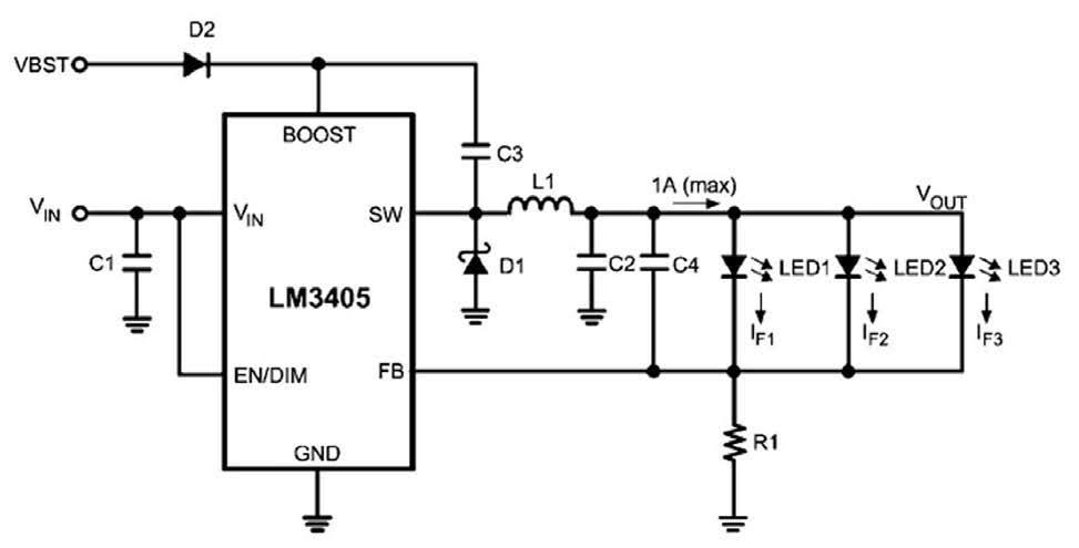 Figura 8: pilotaggio di singoli LED in parallelo.