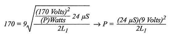 Figura 6: relazione della potenza in funzione dell'induttanza.