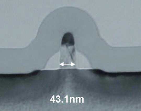 Figura 2: sezione trasversale del transistor DDC