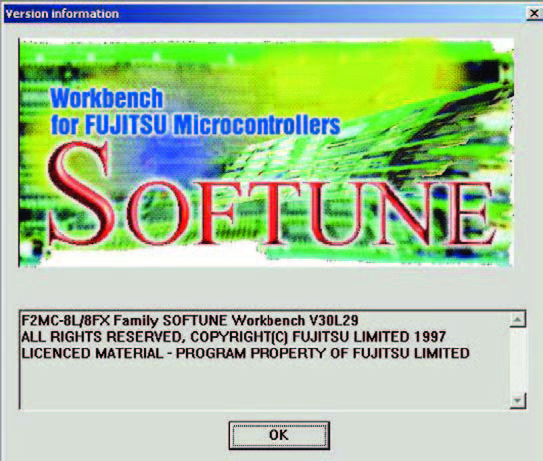 Figura 9: software Softune Workbench V30L29.
