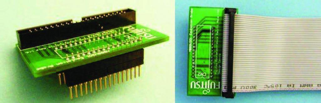 Figura 5: sonda di emulazione con socket SDIP e flat cable.