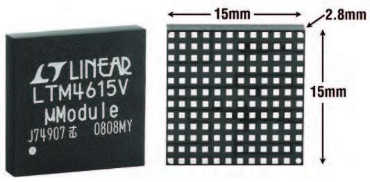 Figura 1: tre circuiti DC/DC in un solo package.