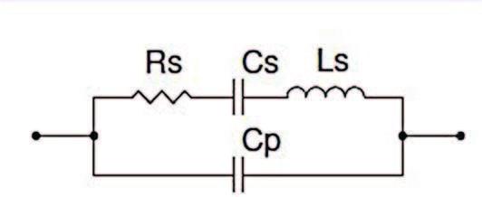 Figura 3: Circuito equivalente del cristallo di quarzo