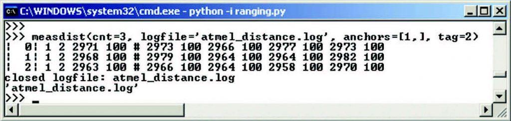 Figura 12: Esempio di esecuzione di un'applicazione in Python