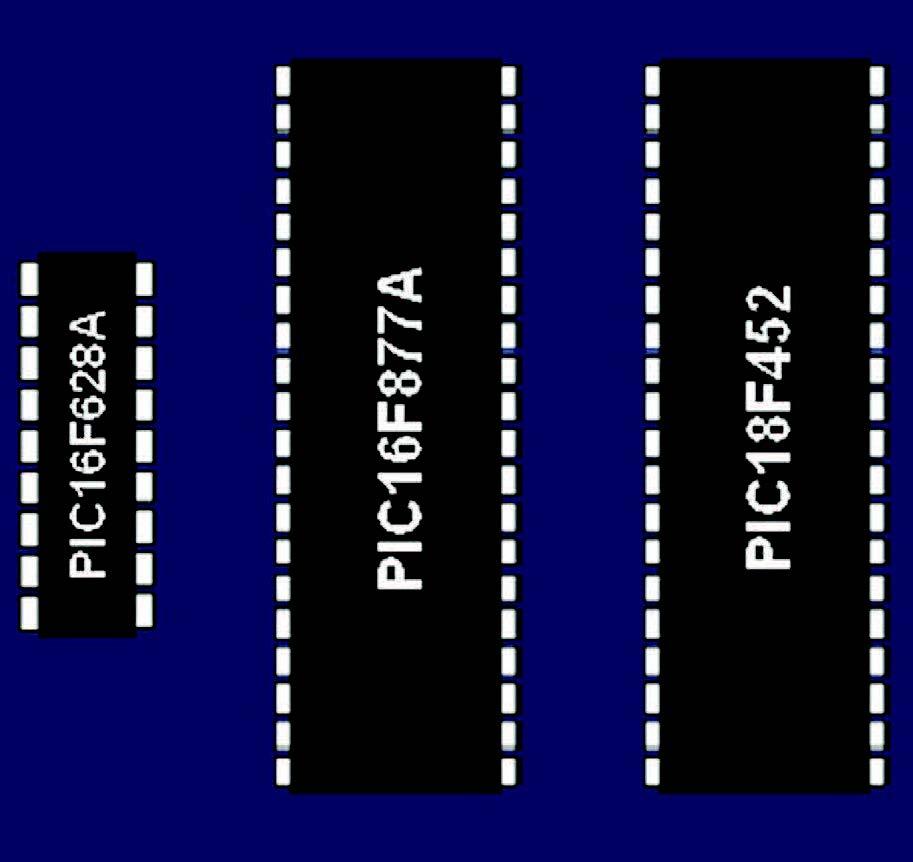 Figura 1: I microcontrollori supportati dal programma.