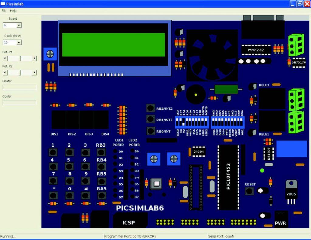 Figura 6: La board 5 e 6 emulano la complessa scheda PICGenios
