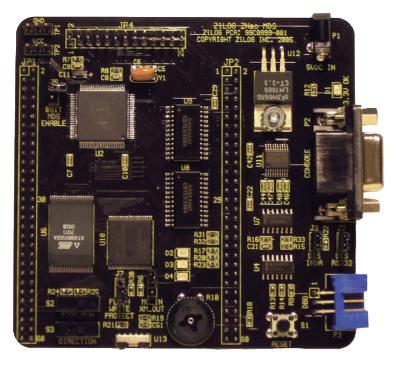 Figura 6 La scheda di sviluppo ZNEO Z16F Series Development Kit