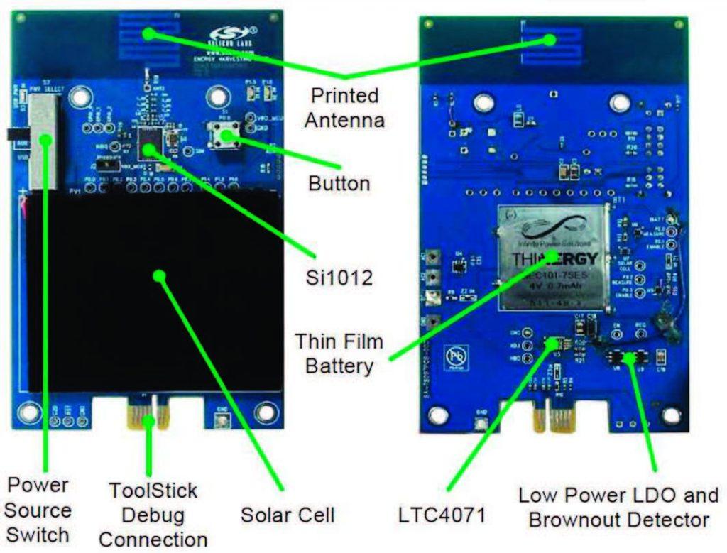 Figura 3: il Sensor Node con l'MCU Si1012