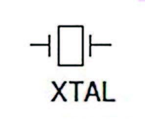 Figura 4: Simbolo elettronico del Cristallo di quarzo