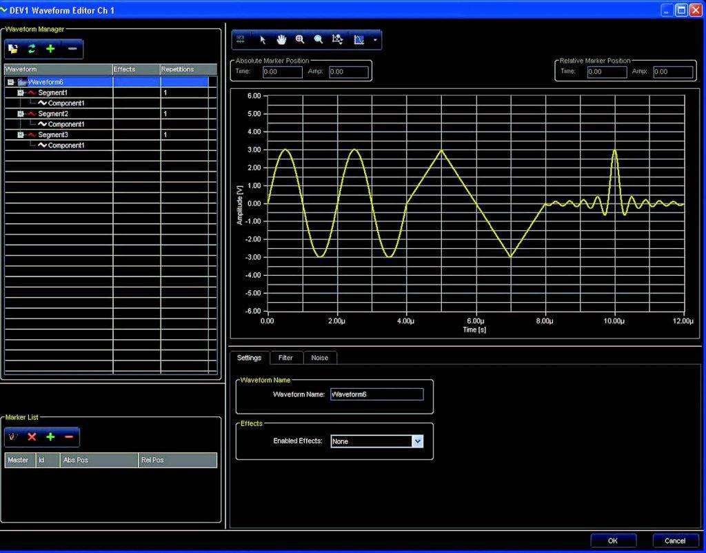 Figura 3: Una schermata del software ArbStudio