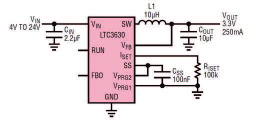 Figura 1. Esempio di applicazione con il LTC3630