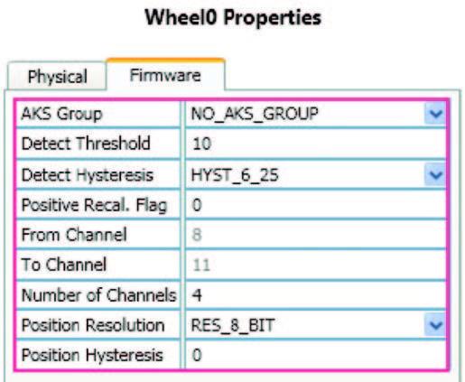 Le proprietà del singolo sensore