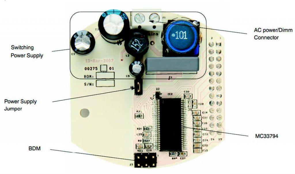 Figura 8: Vista BOTTOM della board SI