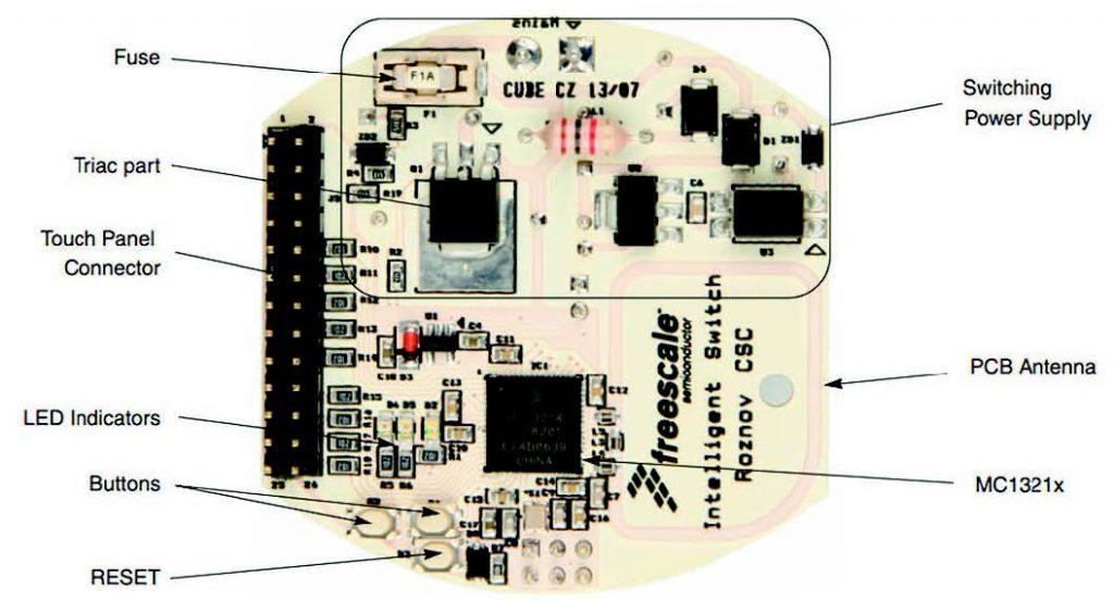 Figura 7: Vista TOP della board SI