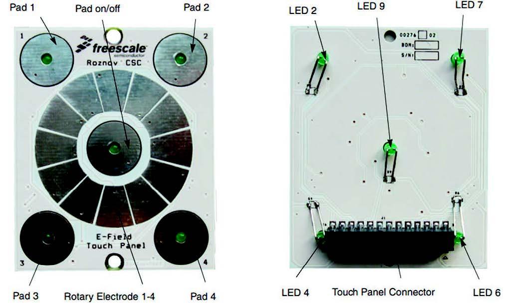 Figura 6: Vista TOP e BOTTOM board touch panel
