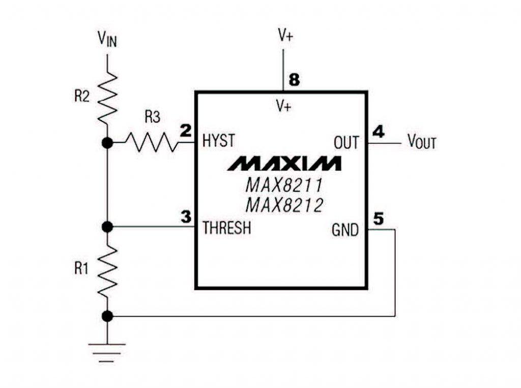 Figura 2: circuito di base per l'overvoltage/undervoltage.