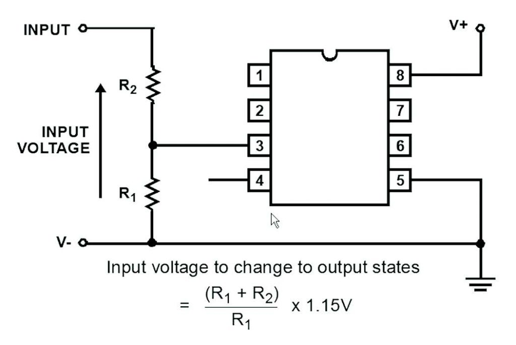 Figura 6: semplice Voltage Detector a singola soglia.