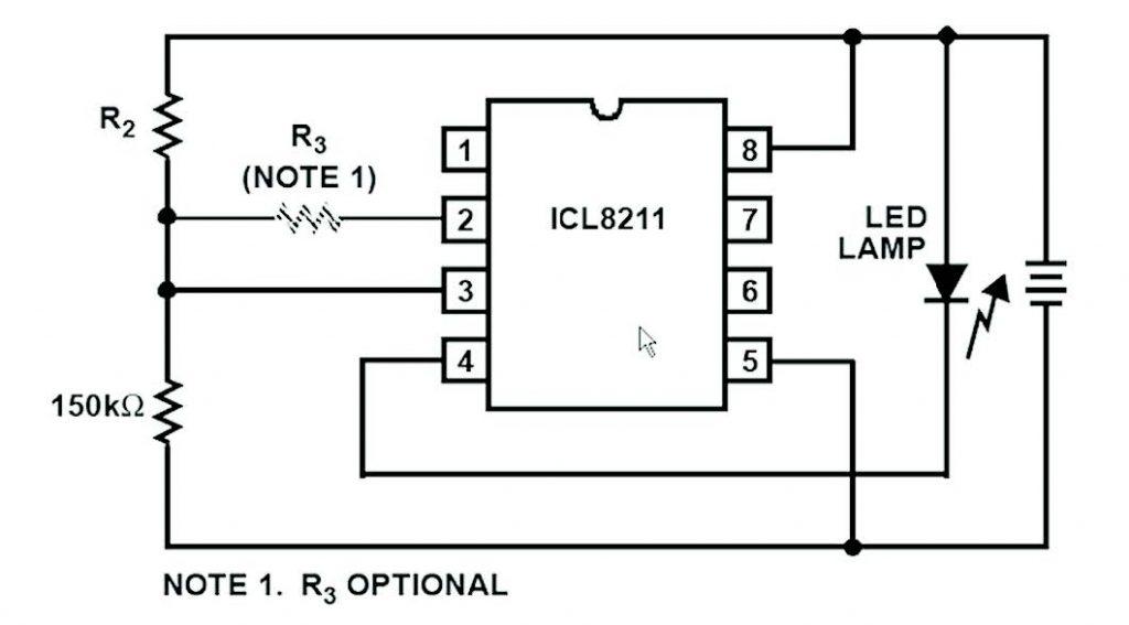 Figura 4: semplice circuito per l'indicazione del livello batteria.