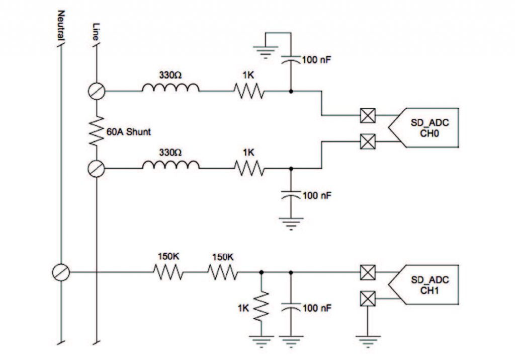 Figura 7: Monitor di Potenza Assorbita Monofase 120 VAC