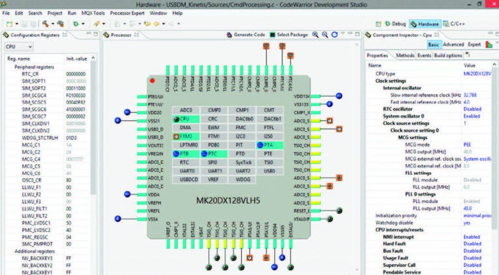 Figura 4: Schermata del Processor Expert di Freescale.
