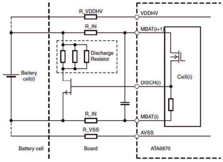 Figura 7: circuito di scarica della cella