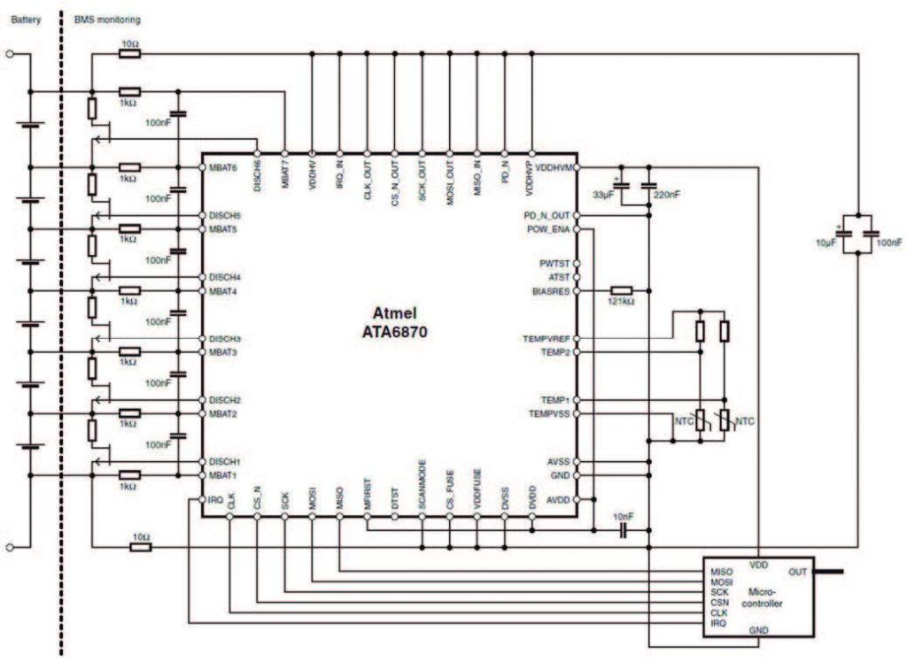 Figura 9: gruppo di batterie e ATA6870