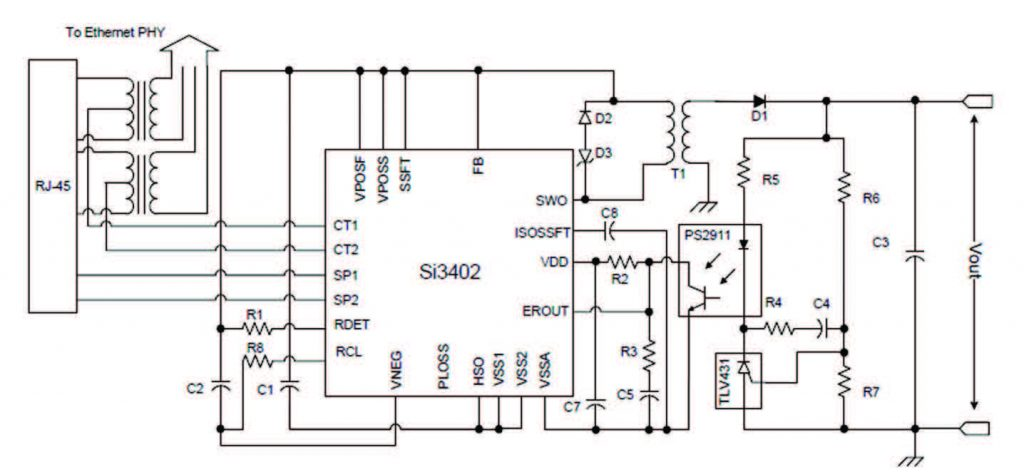 Figura 8: Schema in classe 1 con uscita isolata a 5V.