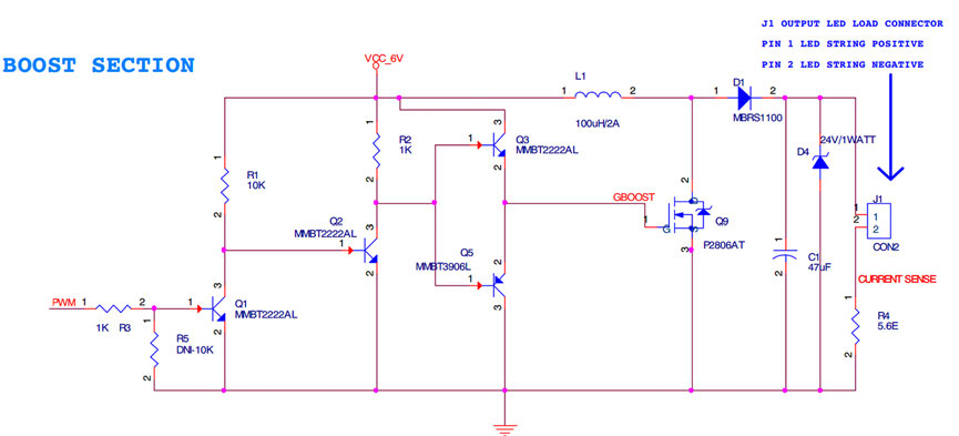 Figura 7: Schema della sezione boost