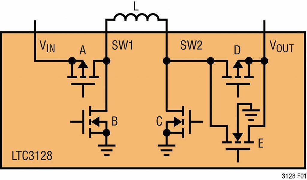 Figura 3. Topologia buck-boost del circuito di carica LTC3128