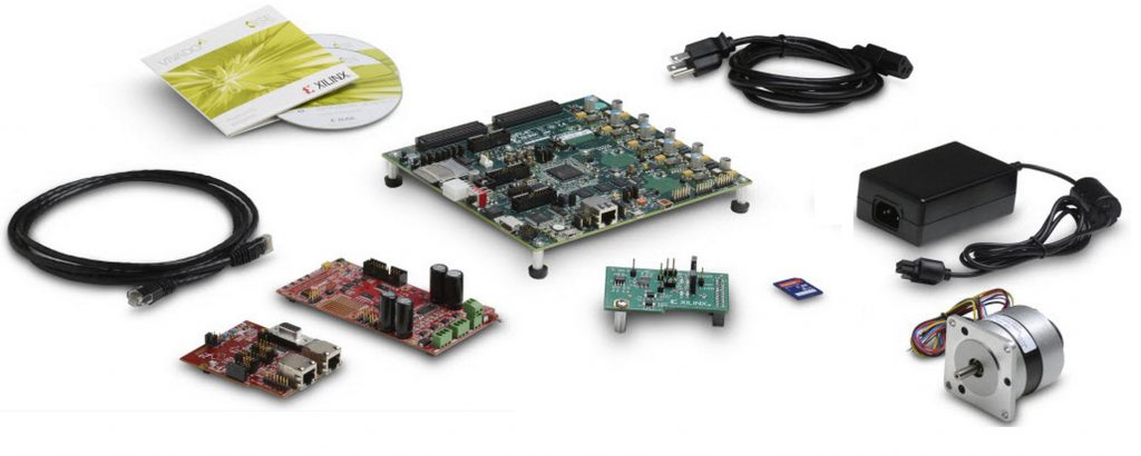 "Figura1 : Vista d'assieme della piattaforma Zynq 7000 ""Intelligent Drives"""