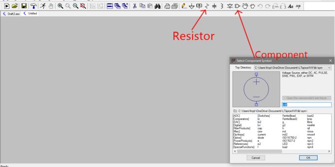 Figura 3 : icone Resistor e Component