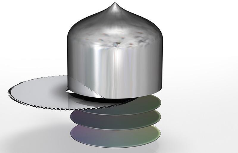 Figura 7: Taglio del lingotto di silicio, seguito da fase di lappatura ed etching