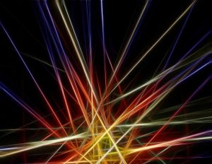 fasci di luce laser