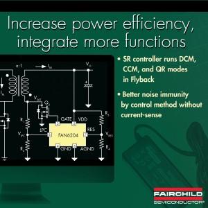 FAN6204 controllore di rettificazione sincrona per Flyback e Forward