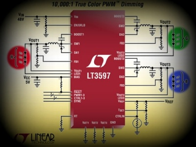 LT3597 LED driver step-down 60V
