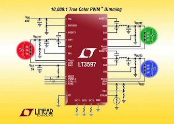 LT3597 convertitore step-down dc-dc linear