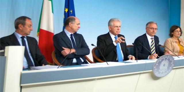 Presentazione della SEN - Governo Monti