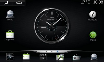 Android Saab iQon sistema di intrattenimento touchscreen con API Androind