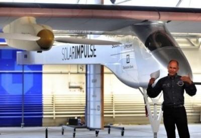 solar impulse, il giro del mondo in aereo ad energia solare
