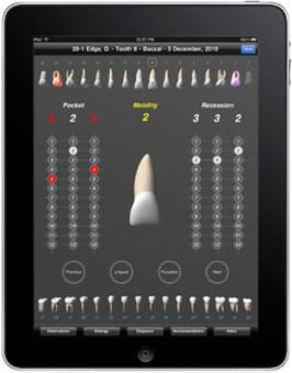 L'applicazione iPad per dentisti edgeDMS permette di raccogliere e gestire i dati dei pazienti