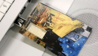 chiavetta usb artmu con dipinto di Van Gogh