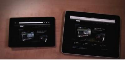 RIM dimostra come il Blackberry Playbook navighi più veloce dell'iPad