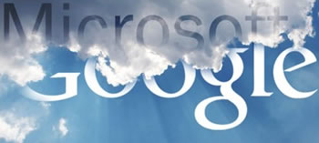 Google e Microsoft sono in lotta per il dominio del cloud