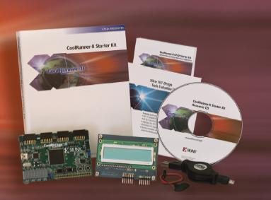 Starter kit CPLD CoolRunner-II della Xilinx