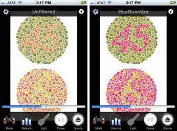 L'applicazione per iPhone Dankam permette di regolare la visualizzazione dei colori per i daltonici