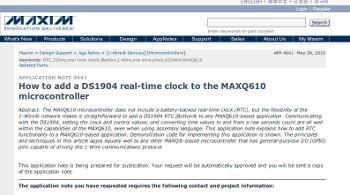DS1904 MAXQ610