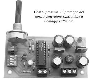 Generatore sinusoidale 0 ÷ 20MHz