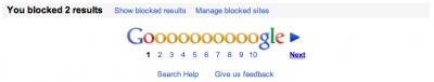 Google consente di bloccare i risultati non desiderati dela ricerca