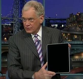 David Letterman testa l'iPad