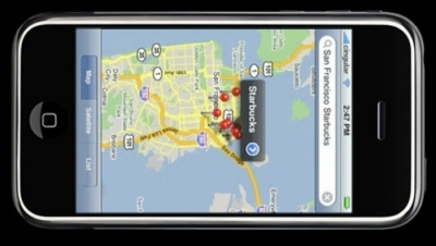 dipositivo GPS dell'iPhone